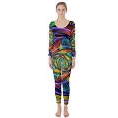 Eye Of The Rainbow Long Sleeve Catsuit by WolfepawFractals