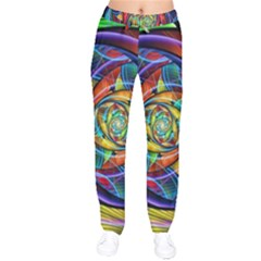 Eye Of The Rainbow Drawstring Pants by WolfepawFractals