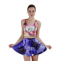 Poppy Blossom Bloom Summer Mini Skirt