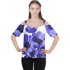 Poppy Blossom Bloom Summer Women s Cutout Shoulder Tee