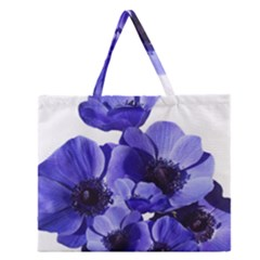Poppy Blossom Bloom Summer Zipper Large Tote Bag by Nexatart