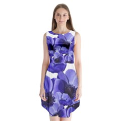Poppy Blossom Bloom Summer Sleeveless Chiffon Dress