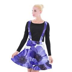 Poppy Blossom Bloom Summer Suspender Skater Skirt