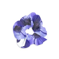 Poppy Blossom Bloom Summer Velvet Scrunchie