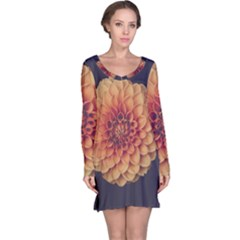 Art Beautiful Bloom Blossom Bright Long Sleeve Nightdress