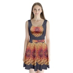 Art Beautiful Bloom Blossom Bright Split Back Mini Dress