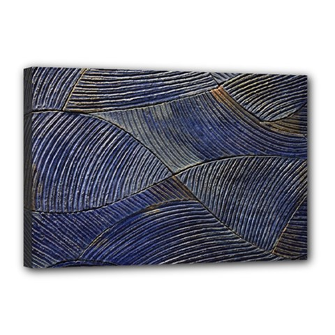 Textures Sea Blue Water Ocean Canvas 18  X 12