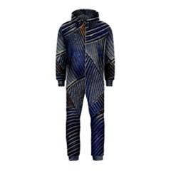 Textures Sea Blue Water Ocean Hooded Jumpsuit (kids)