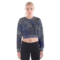 Textures Sea Blue Water Ocean Cropped Sweatshirt