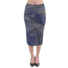 Textures Sea Blue Water Ocean Midi Pencil Skirt