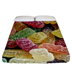 Jelly Beans Candy Sour Sweet Fitted Sheet (king Size)