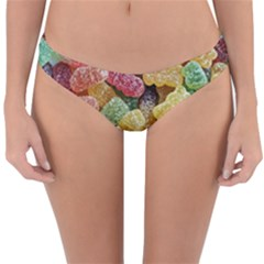 Jelly Beans Candy Sour Sweet Reversible Hipster Bikini Bottoms by Nexatart
