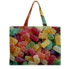 Jelly Beans Candy Sour Sweet Medium Zipper Tote Bag