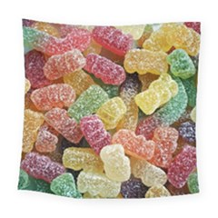 Jelly Beans Candy Sour Sweet Square Tapestry (large) by Nexatart