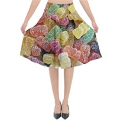 Jelly Beans Candy Sour Sweet Flared Midi Skirt by Nexatart