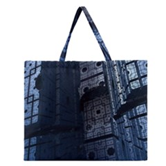 Graphic Design Background Zipper Large Tote Bag by Nexatart
