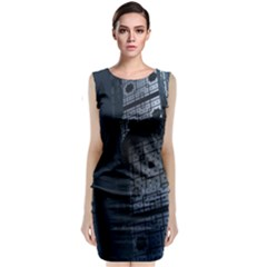 Graphic Design Background Classic Sleeveless Midi Dress