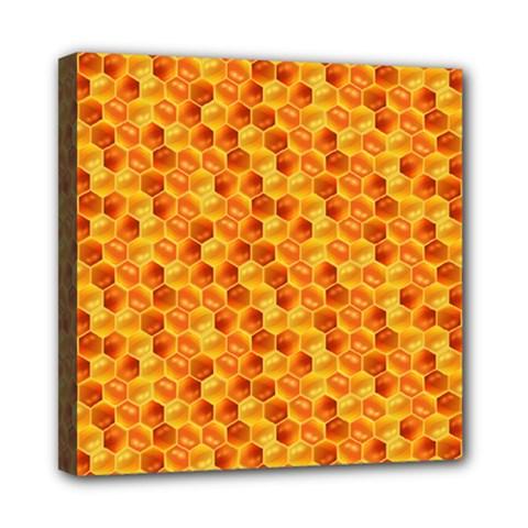 Honeycomb Pattern Honey Background Mini Canvas 8  X 8