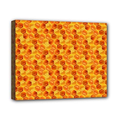 Honeycomb Pattern Honey Background Canvas 10  X 8
