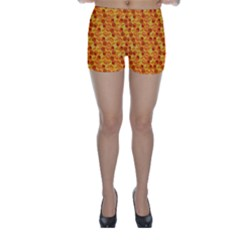 Honeycomb Pattern Honey Background Skinny Shorts