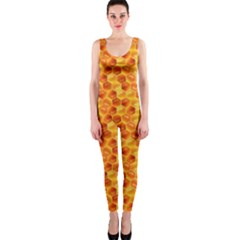 Honeycomb Pattern Honey Background Onepiece Catsuit