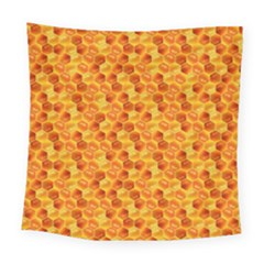 Honeycomb Pattern Honey Background Square Tapestry (large)