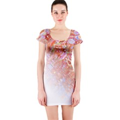 Effect Isolated Graphic Short Sleeve Bodycon Dress