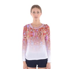 Effect Isolated Graphic Women s Long Sleeve Tee