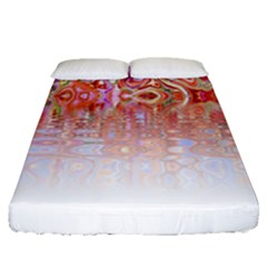 Effect Isolated Graphic Fitted Sheet (queen Size)