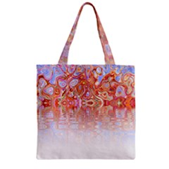 Effect Isolated Graphic Zipper Grocery Tote Bag