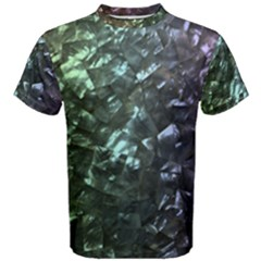 Natural Shimmering Mother of Pearl Nacre  Men s Cotton Tee