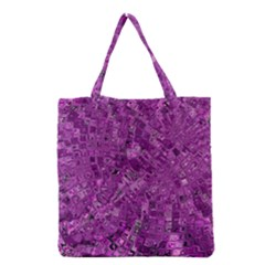 Melting Swirl B Grocery Tote Bag by MoreColorsinLife