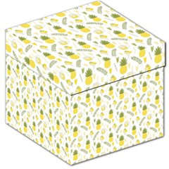 Pineapple Fruit And Juice Patterns Storage Stool 12   by TastefulDesigns
