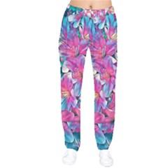 Wonderful Floral 25a Drawstring Pants by MoreColorsinLife