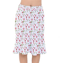 Watermelon Fruit Paterns Mermaid Skirt by TastefulDesigns