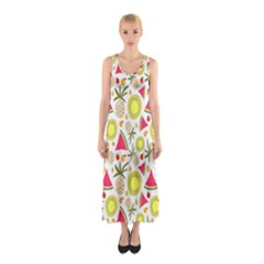 Summer Fruits Pattern Sleeveless Maxi Dress by TastefulDesigns
