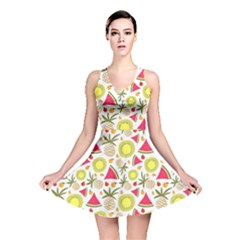Summer Fruits Pattern Reversible Skater Dress by TastefulDesigns
