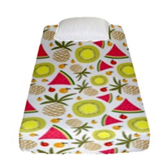 Summer Fruits Pattern Fitted Sheet (single Size) by TastefulDesigns