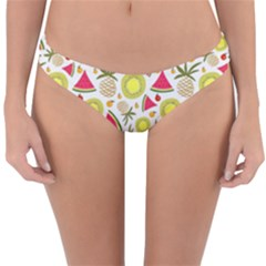 Summer Fruits Pattern Reversible Hipster Bikini Bottoms