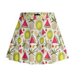 Summer Fruits Pattern Mini Flare Skirt by TastefulDesigns