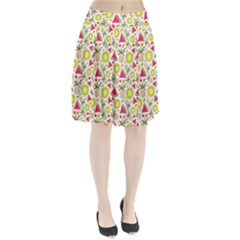 Summer Fruits Pattern Pleated Skirt by TastefulDesigns