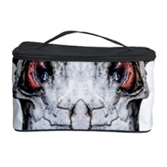 Funny Creepy Alien Headbones Small Cosmetic Storage Case by dflcprints