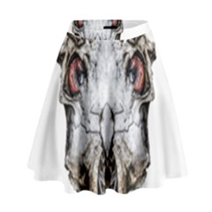 Funny Creepy Alien Headbones Small High Waist Skirt by dflcprints