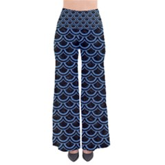Scales2 Black Marble & Blue Colored Pencil So Vintage Palazzo Pants by trendistuff