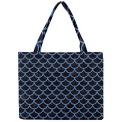 Scales1 Black Marble & Blue Colored Pencil Mini Tote Bag by trendistuff