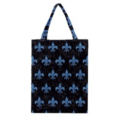 Royal1 Black Marble & Blue Colored Pencil (r) Classic Tote Bag by trendistuff