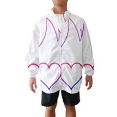Heart Flame Logo Emblem Wind Breaker (kids)