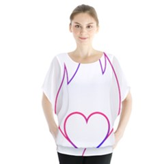 Heart Flame Logo Emblem Blouse