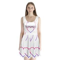 Heart Flame Logo Emblem Split Back Mini Dress