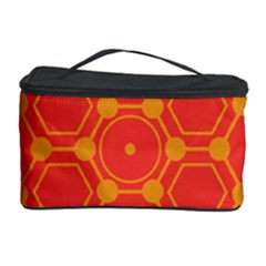 Pentagon Cells Chemistry Yellow Cosmetic Storage Case by Nexatart